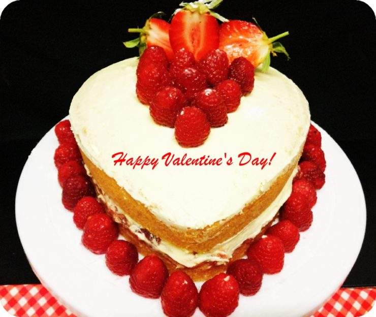 Victoria Sponge for Valentine's day